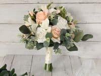 Emma Blush Peach Bridal Bouquet